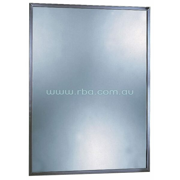 Mirror With Stainless Steel Channel Frame