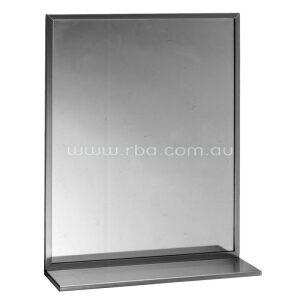 Bobrick Stainless Steel Frame Mirror with shelf B166 | RBA Group