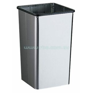 Bobrick B2280 79L Free Standing Waste Bin w/ Open Top and No Lid | RBA Group