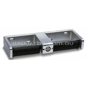 Double Toilet Roll Holder with Tumbler Lock
