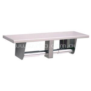 Surfaced Mounted Toilet Tissue Dispenser & Utility Shelf