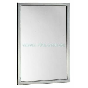 Mirror With Stainless Steel Angle Frame
