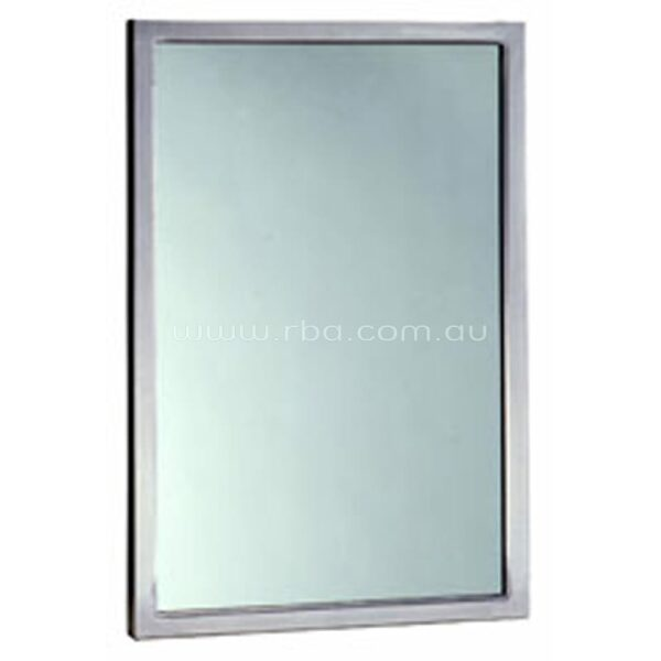 Mirror With Stainless Angle Frame