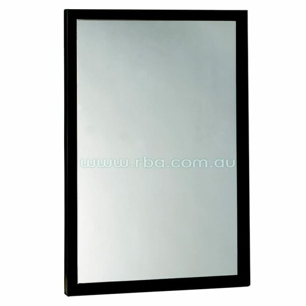 Mirror With Stainless Black Angle Frame