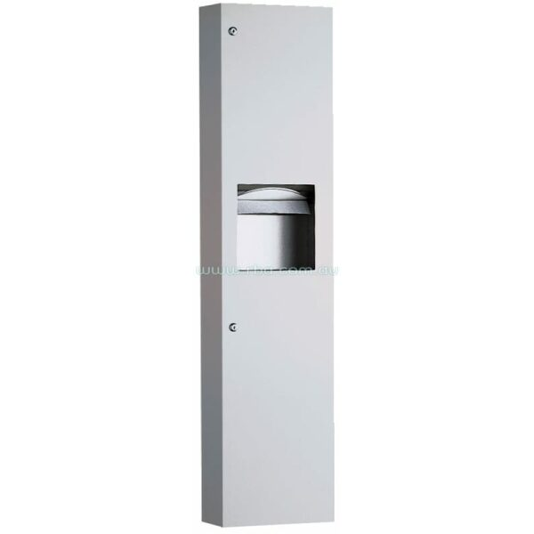 Surface Mounted Paper Towel Dispenser and Waste Receptacle