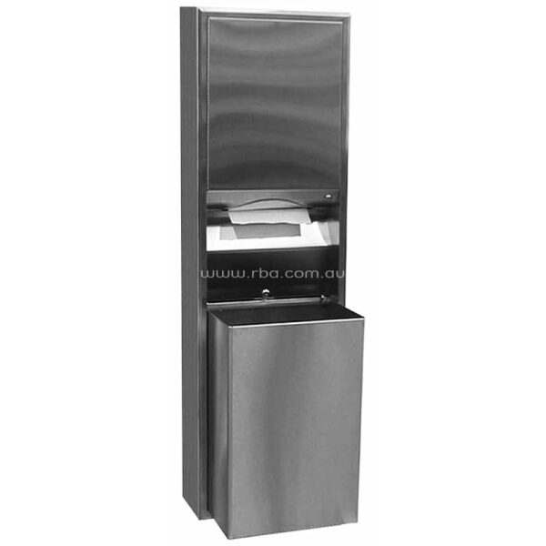 ClassicSeries® Recessed Convertible Paper Towel Dispenser and Waste Receptacle