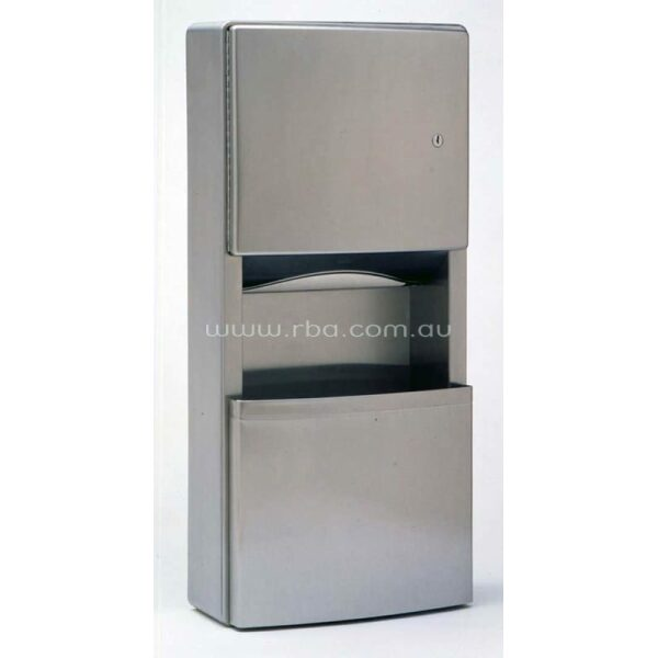 Contura™ Surface Mounted Paper Towel Dispenser and Waste Receptacle