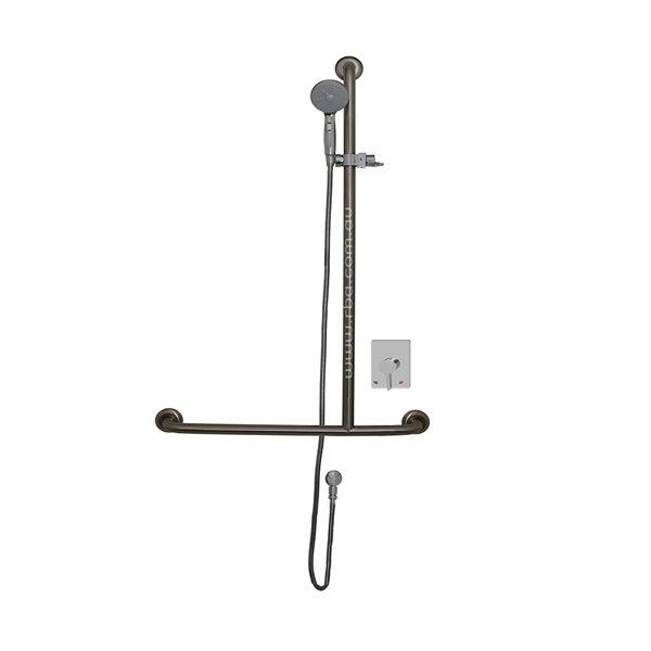 Shower T-Rail w/ Mixer, Handset, Slider & Hose RH