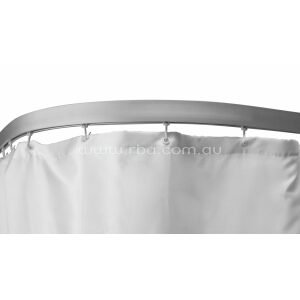 90&deg Angled Shower Curtain Track - Aluminium Track