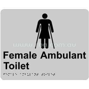 Braille & Tactile Sign - Female Ambulant