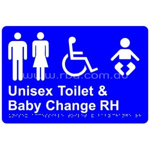 Braille & Tactile Sign - Unisex Accessible Toilet & Baby Change
