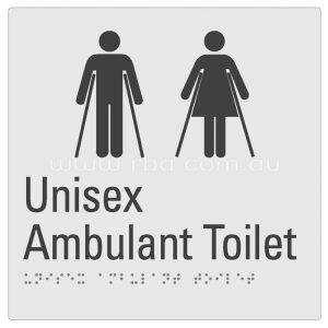 Braille & Tactile Sign - Unisex Amulant Toilet