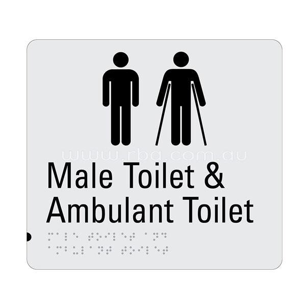 Braille & Tactile Sign -Male Toilet & Ambulant Toilet