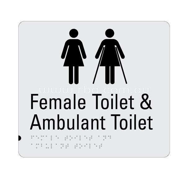 Braille & Tactile Sign - Female Toilet & Ambulant Toilet
