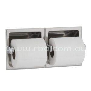 Bobrick Recessed Dual Toilet Roll Holder B6977