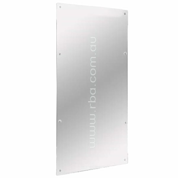 Reflective Polycarbonate Mirror. Correct Installation Meets the Requirements for AS1428.1.