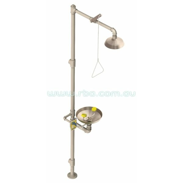 Pedestal Emergency Eye/Face Wash Bowl & Shower