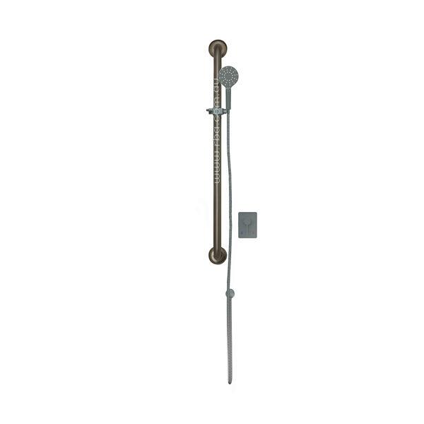 4 Star Shower Rail, Handset & Lever Mixer Kit