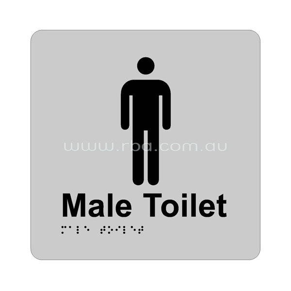 Braille & Tactile Sign -Male