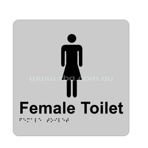 Braille & Tactile Sign - Female