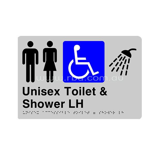 Braille & Tactile Sign - Unisex Accessible Toilet & Shower