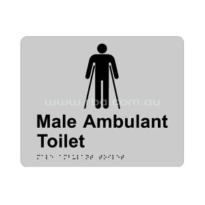 Braille & Tactile Sign - Male Ambulant