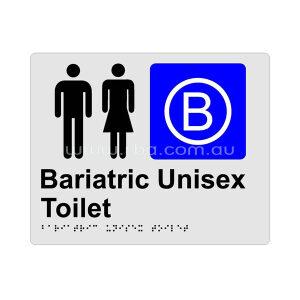 Braille & Tactile Sign - Unisex Bariatric