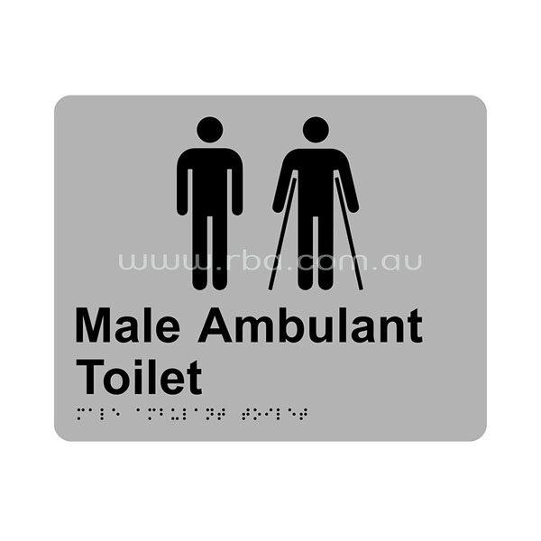 Braille & Tactile Sign - Male Toilet & Ambulant Toilet