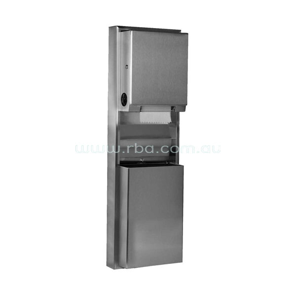 ClassicSeries® Surface-Mounted Convertible Paper Towel Roll Dispenser and Waste Receptacle