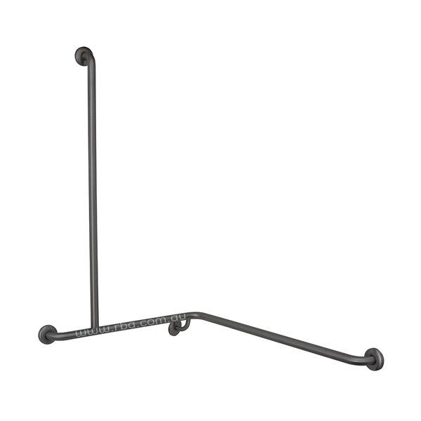 2 wall Grab Bar with 90&deg Angled Shower Rail