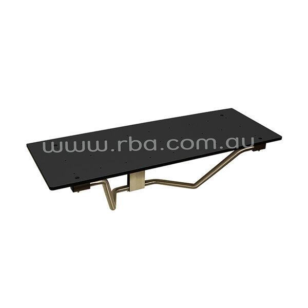 Folding Shower Seat Black RBA4157-777-004