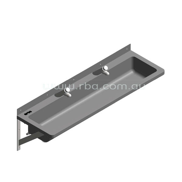 Lead-Free Pre-plumbed 1200mm LH Trough with 2 Taps