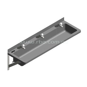 Lead-Free Pre-plumbed 1200mm LH Trough with 3 Taps