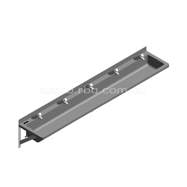 Lead-Free Pre-plumbed 2000mm LH Trough with 5 Taps