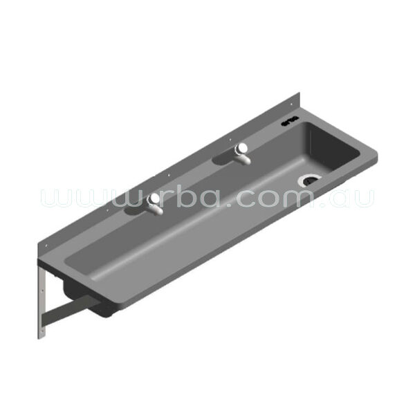 Lead-Free Pre-plumbed 1200mm RH Trough with 2 Taps