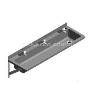 Lead-Free Pre-plumbed 1200mm RH Trough with 3 Taps